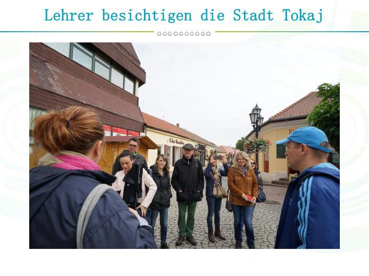 Lehrer besichtigen die Stadt Tokaj