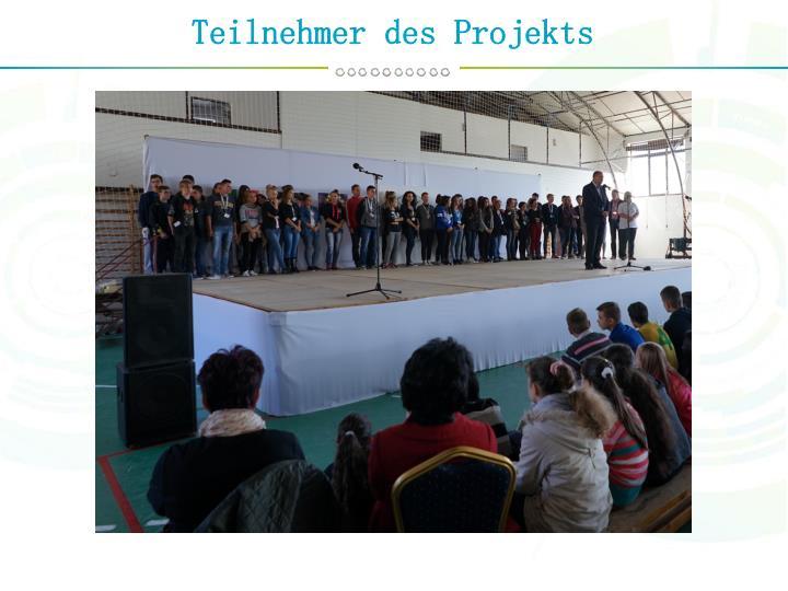 Teilnehmer des Projekts