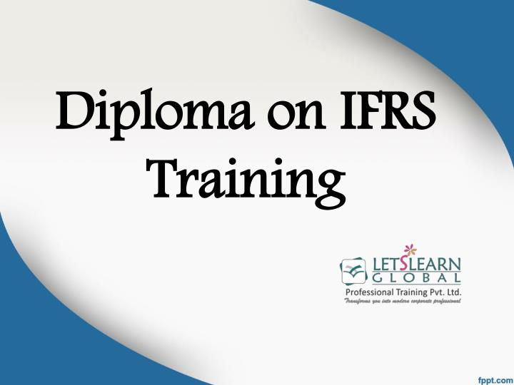 diploma on ifrs training n.