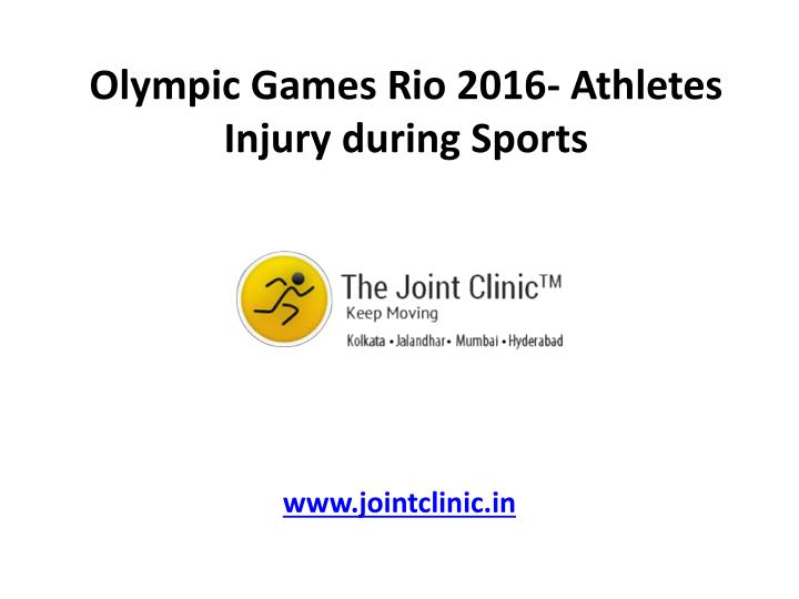 olympic games rio 2016 athletes injury during sports n.