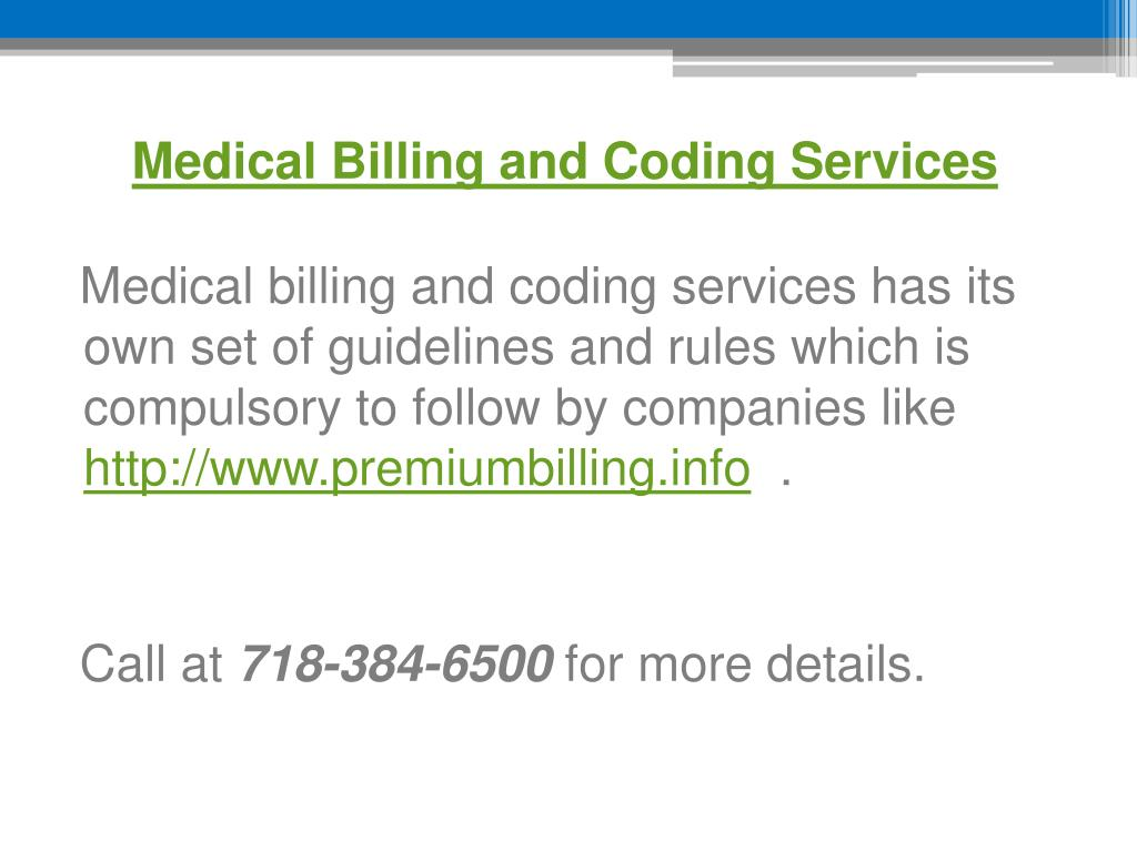ppt - medical billing and coding services -  premiumbilling info powerpoint presentation