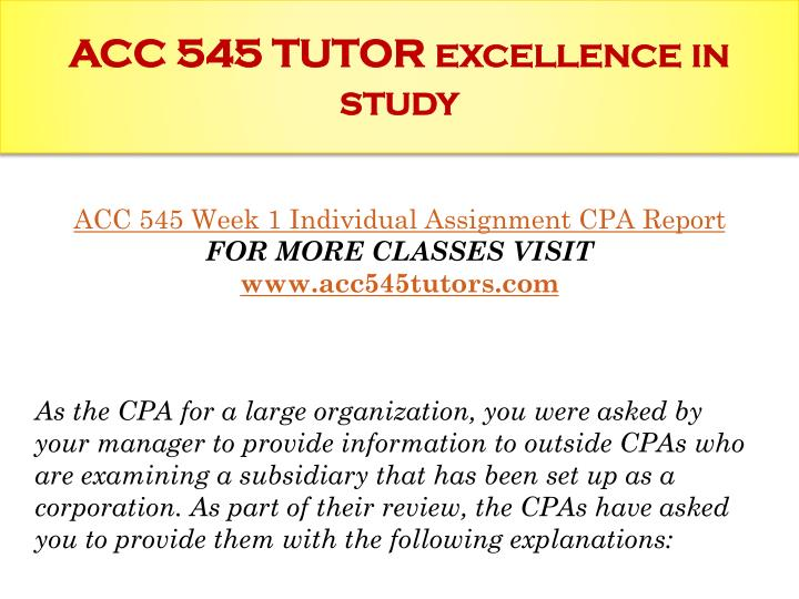 acc 545 Tutorials for question #00045744 categorized under accounting and accounting.