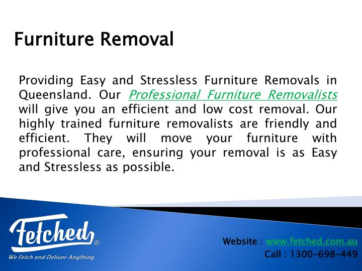 Providing Easy and Stressless Furniture Removals in Queensland. Our