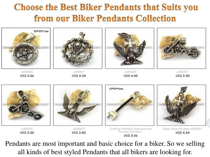 Choose the Best Biker Pendants that Suits you from our Biker Pendants Collection