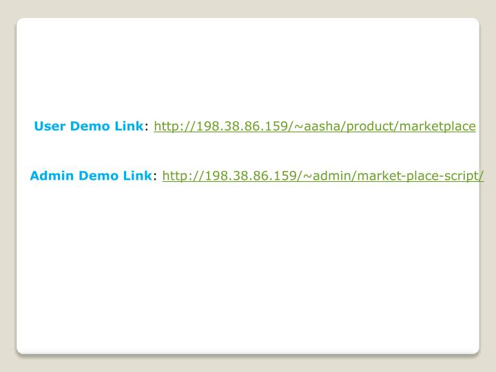 User Demo Link