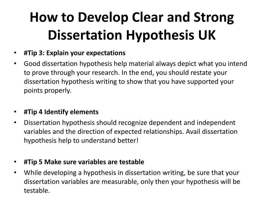 Dissertation hypothesis grammar for essay writing