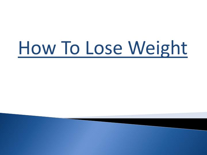 how to lose weight n.