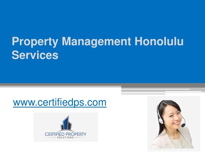 property management honolulu services n.