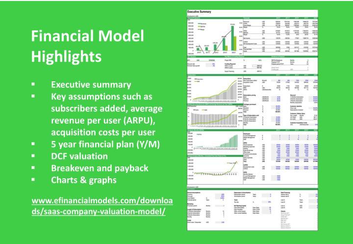 Financial Model Highlights