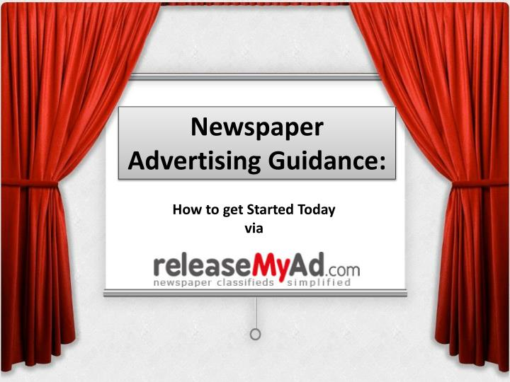 newspaper advertising guidance n.