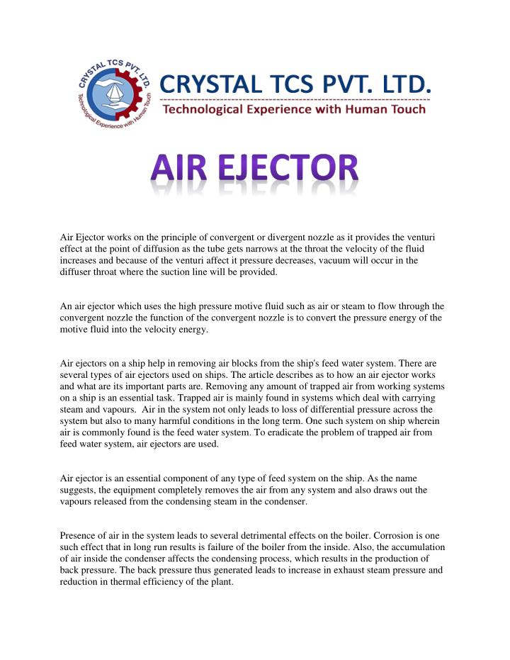 PPT - Air Ejector PowerPoint Presentation - ID:7390691