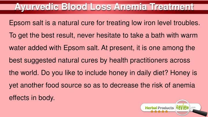 Ayurvedic Blood Loss Anemia Treatment