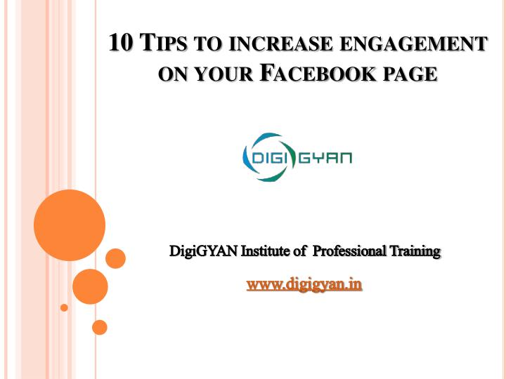 10 tips to increase engagement on your facebook page n.