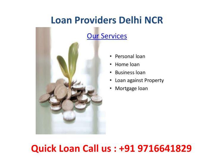 Loan Providers Delhi NCR