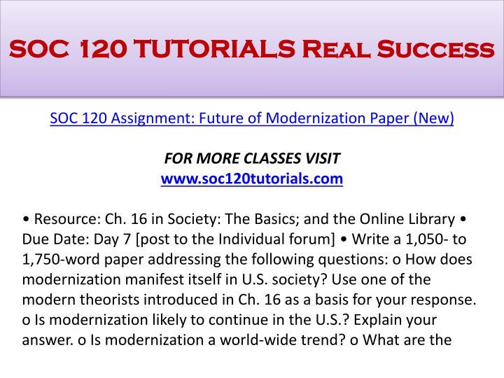 Soc 120 tutorials real success1