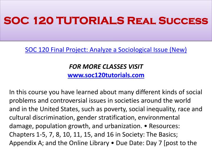 SOC 120 TUTORIALS Real Success
