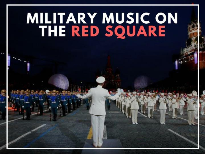 military music on the red square n.