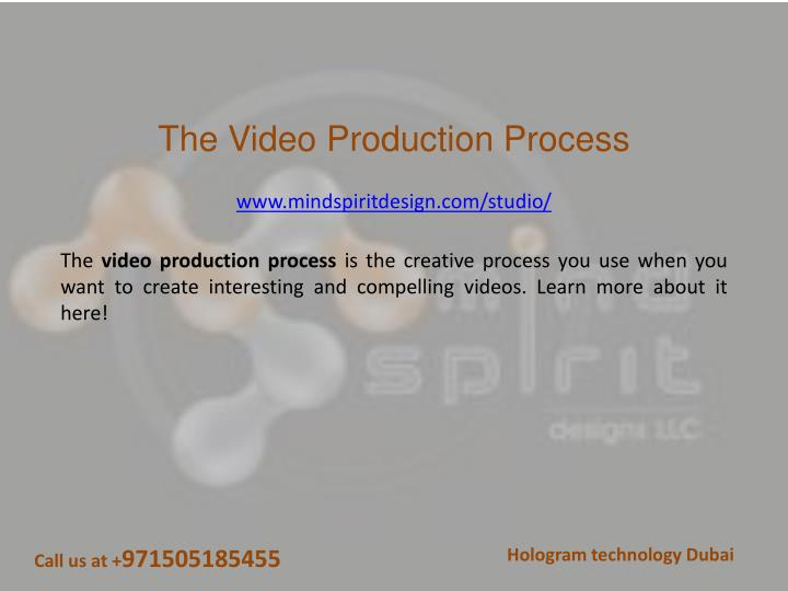 the video production process n.