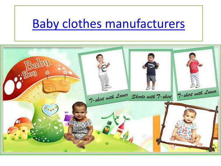 baby clothes manufacturers n.
