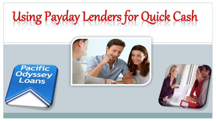 using payday lenders for quick cash n.