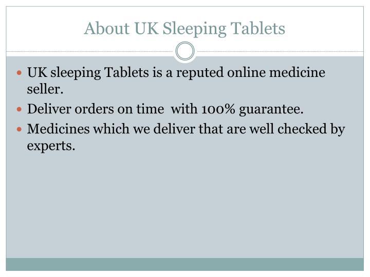 uk sleeping tablets