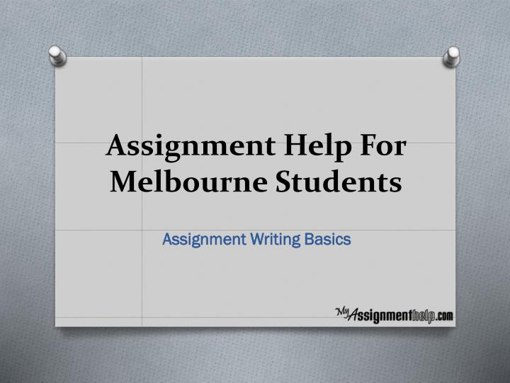 assignment help for melbourne students n.