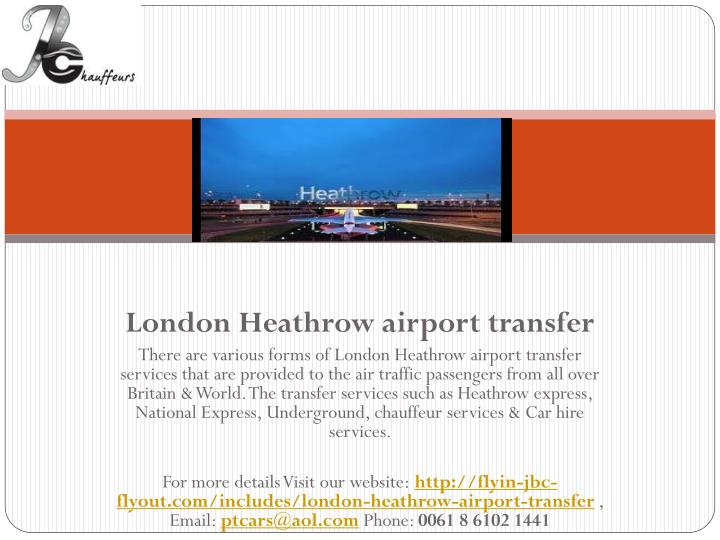London Heathrow airport transfer