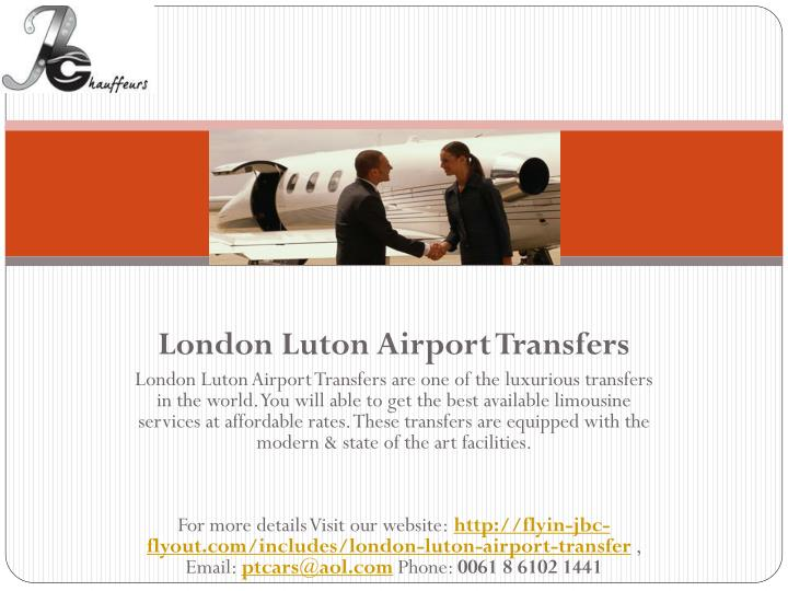London Luton Airport Transfers