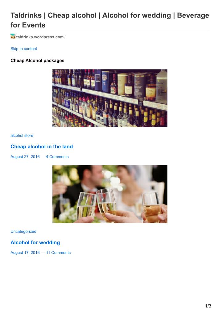 PPT - Buying alcohol for wedding PowerPoint Presentation - ID:7393118
