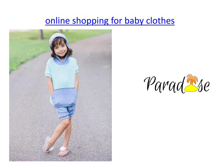 PPT line Handmade Baby Clothes PowerPoint Presentation