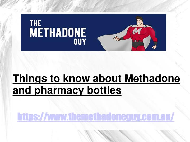 Things to know about Methadone