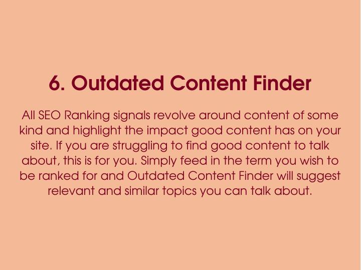 6.OutdatedContentFinder
