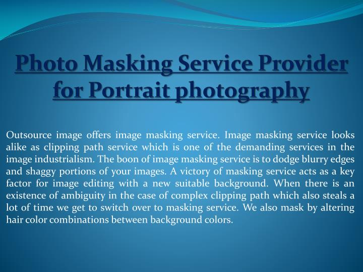 photo masking service provider for portrait photography n.