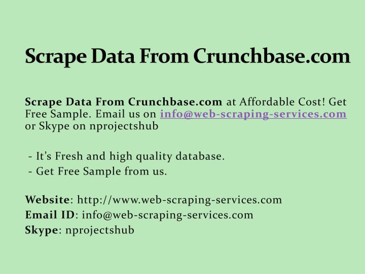 scrape data from crunchbase com n.