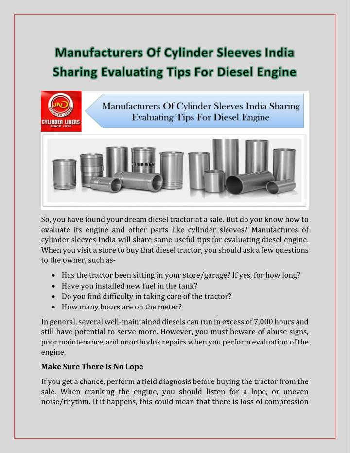 So, you have found your dream diesel tractor at a sale. But do you know how to