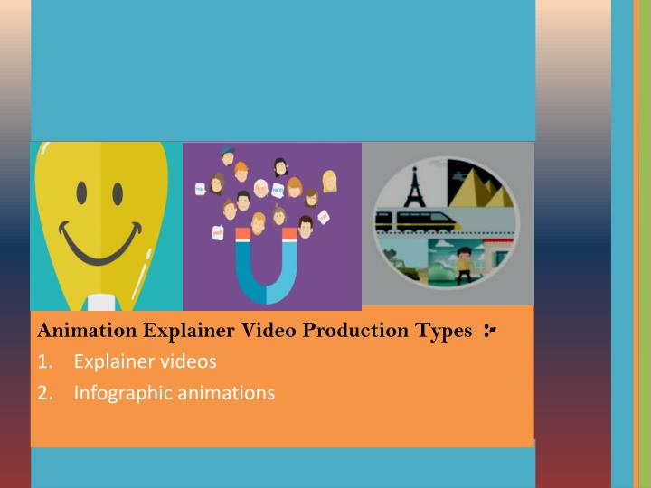 Animation Explainer Video Production Types