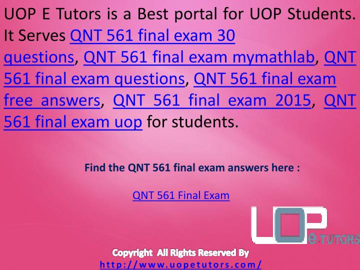 qnt 561 week 1 mymathlab practice problems