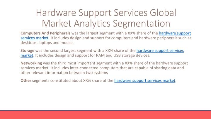 Hardware Support Services
