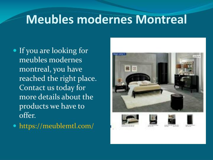 meubles modernes montreal n.