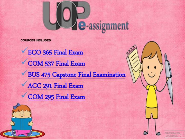 ans and question for acc 537 final exam Acc 291 final exam trendy update from the university of phoenix multiple choice of uop accounting 291 final exam 2015 with 86 correct questions and answers pa slideshare uses cookies to improve functionality and performance, and to provide you with relevant advertising.
