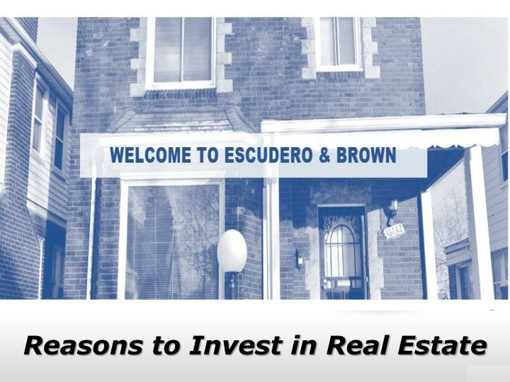 reasons to invest in real estate n.