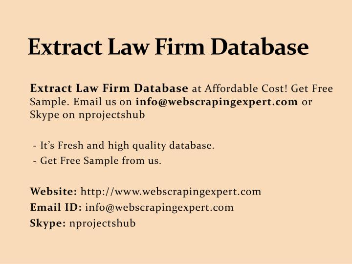 extract law firm database n.