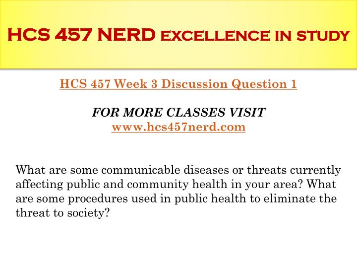 hcs 457 what are some u s trends in public health that have expanded into global settings