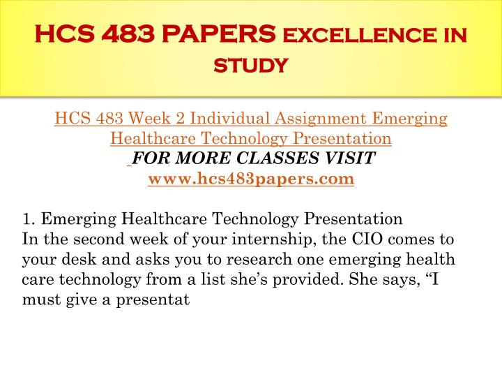 hcs 483 week 4 it project implementation failures