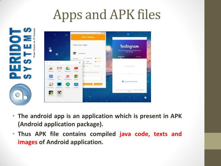 Apps and APK files