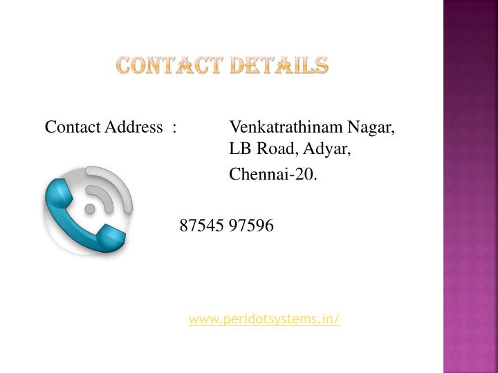 Contact Address  :