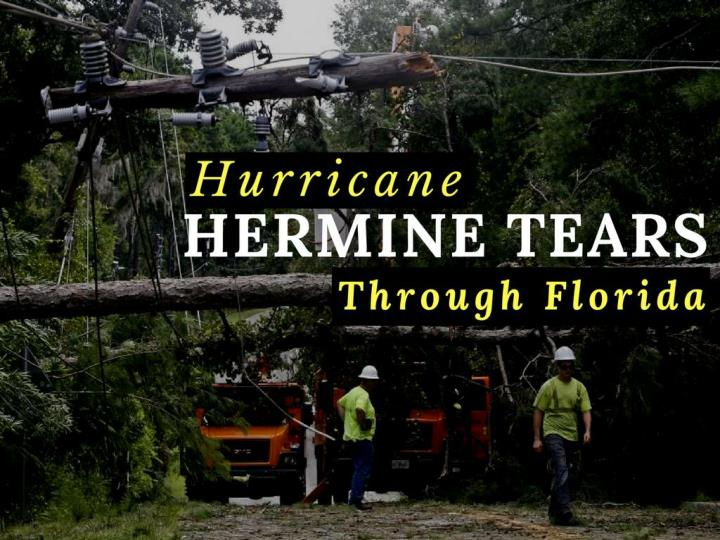 typhoon hermine tears through florida n.
