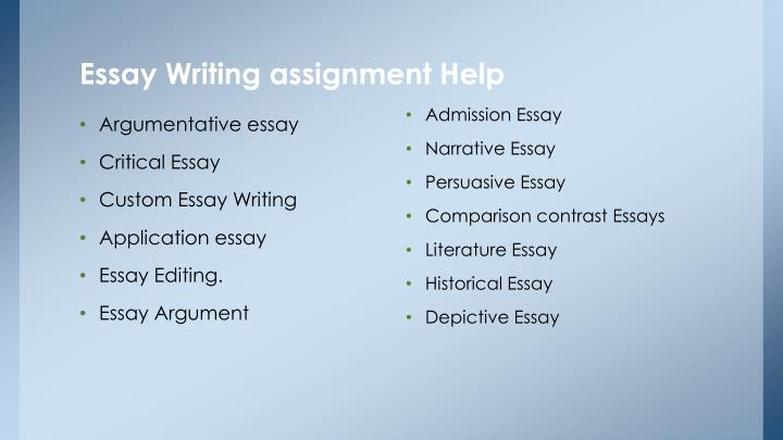 argument essay assignments Argument essay assignment length: three paragraphs (at least one-and-a-half pages) purpose: to form a thesis and make an argument about an essay you have read audience.