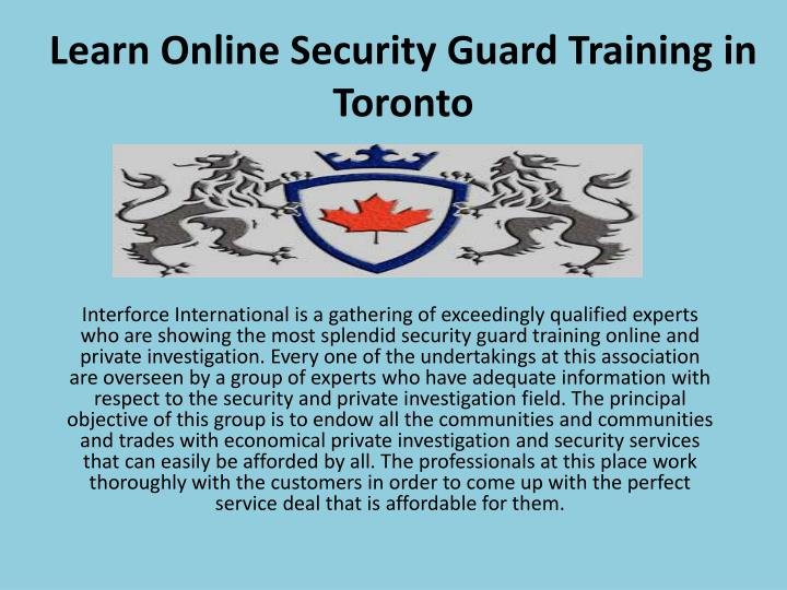 PPT - Learn Online Security Guard Training in Toronto PowerPoint ...