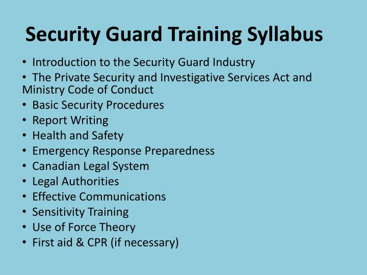 Ppt Learn Online Security Guard Training In Toronto